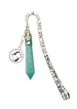 Vente Articles : Marque-page Horoscope : Poissons (Turquoise)  - Mainela Créations